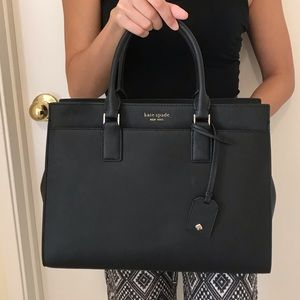 KATE SPADE LARGE SATCHEL BLACK CAMERON CROSSBODY